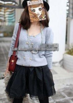 Super Fluffy Yarn Yarn Material Skirt Black Latest Fashion For Women, Jumper, Russia, Hipster, Seasons, Stylish, Skirts, Clothes, Black
