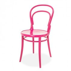 Bent Hot Pink Bistro Chair