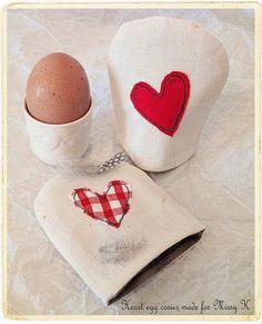 heart egg cozies