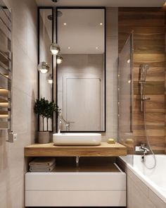 How much does a bathroom renovation cost? Best Bathroom Designs, Simple Bathroom, Modern Bathroom Design, Bathroom Interior Design, Mirror Bathroom, Bathroom Storage, Design Hall, Bathroom Renovation Cost, Amazing Bathrooms
