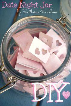 DIY Date Night Ideas -- would make a sweet wedding gift. :)