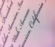 Envelopes Fancy Fonts Calligraphy
