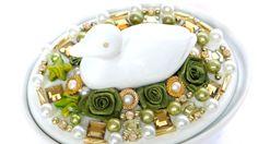 Porzellan Schale mit Deckel Aufbewahrung Schmuck weiß von LonasART
