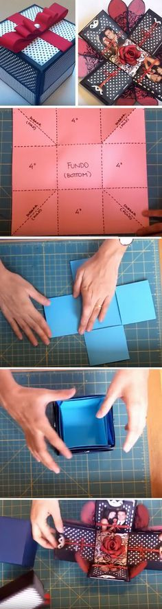 Christmas DIY: Explosion Box | Clic Explosion Box | Click Pic for 22 DIY Christmas Gifts for Boyfriends | Handmade Gifts for Men on a Budget #christmasdiy #christmas #diy