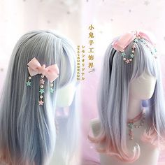 Hair Pin Lolita Hair Accessories Moe Sweet Japan Kawaii Bow Cute KC Kawaii Hair Pin Lolita Hair Accessories Moe Sweet Japan Kawaii Bow Cute KC Kawaii - Station Of Colored Hairs Kawaii Hairstyles, Teenage Hairstyles, Cute Hairstyles, Hairstyles Videos, Hairstyles 2016, Pelo Lolita, Lolita Hair, Japan Kawaii, Mode Kawaii