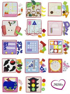 Children need to exercise their hands and minds often. Books are wonderful, toys are great; but what if you could create a collection of unique experiences for your child? You can, with a quiet tablets! The price is indicated for one developing tablet. There are 56 kinds of pages available for selection. Some tablet designs include geometric shapes, octopus puzzles, fruit and vegetable parts, sneakers with laces, apples and baskets, an aquarium with fish, parts of a pizza, clocks, and/...