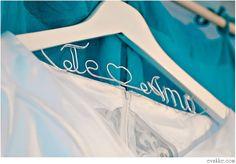Hanger Deluxe one Line Personalized Custom Bridal by Nurystuff, $20.00