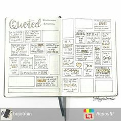 Love this spread idea from @bujotrain _________________________________________________ My #quotedmay spread is coming along nicely! . . . #bujo #bujotrain #bujolove #bulletjournal #bulletjournallove #planneraddict #ilovepens #bulletjournaladdict #leuchtturm1917 #bulletjournalling @onicahanby #RepostIt_app