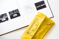 Balenciaga Mini Giant Envelope Clutch in Curry