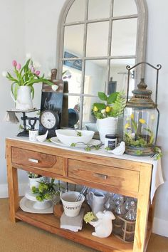 Get your home decorated for spring with these quick and easy spring decorating ideas. 10 minutes is all you need to add some spring to your home!