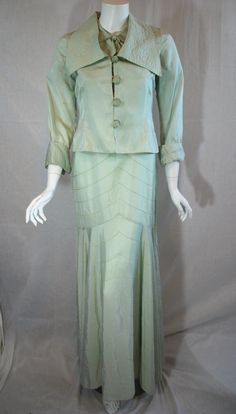 Vintage 1930s Dress and Matching Jacket