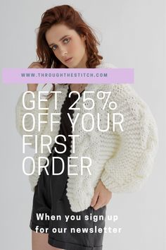 Get 25% off your first order when you sign up for our newsletter Poncho Knitting Patterns, Cardigan Pattern, Knit Patterns, Summer Design, First Order, Pattern Design, Crochet Hats, Stitch, Knitting Patterns