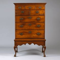 Pennsylvania Walnut Ball Claw Foot Chest on Frame Circa 1780