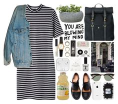 """""""C A I T L Y N"""" by crunchypeanutbutter on Polyvore featuring T By Alexander Wang, Levi's, Campania International, Mismo, American Apparel, NARS Cosmetics, Ray-Ban, Forever 21, Minimarket and Topshop"""