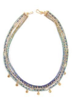 Chan Luu - Blue Mix Multi Strand Charm Necklace, $345.00 (http://www.chanluu.com/necklaces/blue-mix-multi-strand-charm-necklace/)