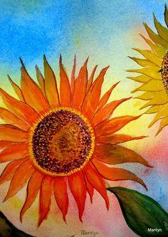 Sunflowers Painting  - Sunflowers Fine Art Print