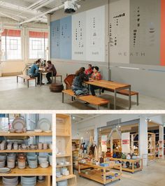 Heath Ceramics and Blue Bottle Coffee, bringing beautiful design, treats and a fantastic neon sign to the neighborhood.