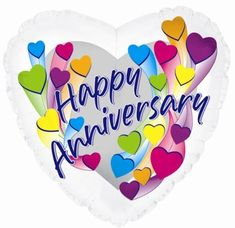 """Celebrate another year of happiness and love with this Anniversary Hearts Cti balloon! The balloon measures and displays the message """"Happy Anniversar Anniversary Wishes For Parents, Anniversary Wishes For Friends, Wedding Anniversary Quotes, Happy Anniversary Cards, Anniversary Parties, Anniversary Flowers, Metallic Balloons, Mylar Balloons, Balloon Balloon"""