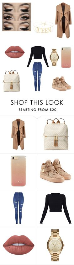 """""""Untitled #628"""" by alexponson ❤ liked on Polyvore featuring Michael Kors, Kate Spade, Giuseppe Zanotti, Topshop and Lime Crime"""