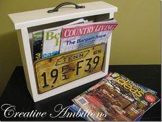 repurposed dresser drawer | DIY / Repurposed Furniture / Old drawer + license plate