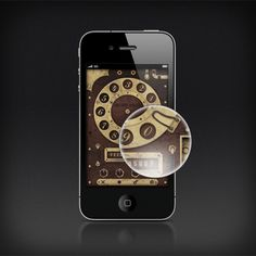 steampunk style phone appearance