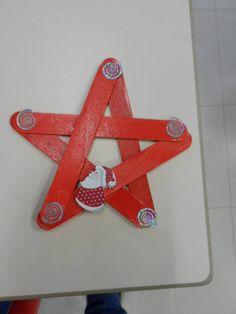 .Popsicle stick star