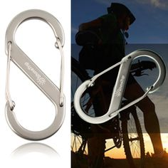 1 pcs 8-type Metal Keychain Buckle Survival Gear Carabiner Hook Travel Kit free shipping #Affiliate