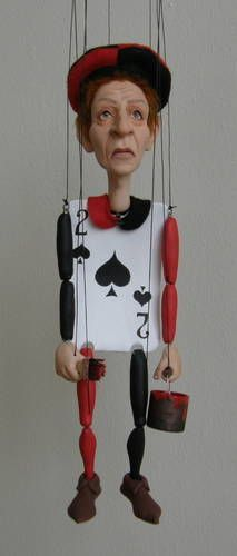 Beleaguered subject marionette, fun toy for an evil queen! ~Craftster.org