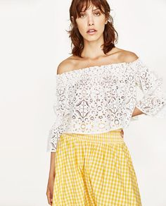 LACE BOATNECK TOP-NEW IN-WOMAN | ZARA United States