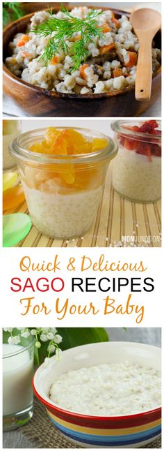 Are you keen on weaning your baby? Are you clueless about the foods that you can safely introduce to him? Check 3 quick & delicious sago recipes for babies. Sago Recipes, Baby Led Weaning, Clueless, Baby Hacks, Teething, Baby Food Recipes, Easy Meals, Amp, Babies
