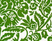 Green, Moss, Floral, Modern, West Indies, Jennifer Paganelli , One Yard, 1 yard