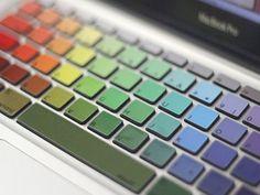 Rainbow-MacBook-Keyboard-Decals - 10$