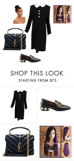 BLACK PINK by naray19 on Polyvore featuring Adolfo, Gucci and Yves Saint Laurent