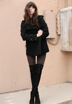 Coat: Zara / Jeans: Pac Sun / Blouse: H / Boots: Robert Clergerie. I want boots like that