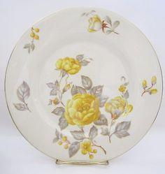 Castleton China Mayfair Yellow Rose 30pc Service for 6 Rosenthal Molds 1950 Vtg