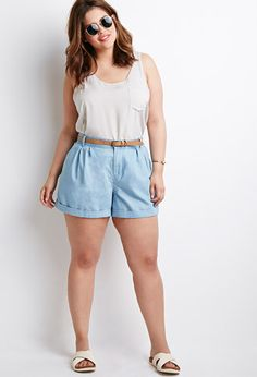 Plus Size Shorts To Keep You Chic in the Heat The Curvy Fashionista Plus Size Fashion For Summer, Plus Size Summer Outfit, Casual Summer Outfits, Short Outfits, Plus Size Outfits, Plus Size Shorts, Rock Outfits, Casual Shorts, Curvy Girl Outfits
