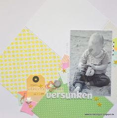 Bunterpinguin: Scrapbooklayout für Creative Scrappers mit Studio Calico