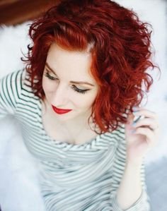 Red, Short Curly Hair - Everyday Hairstyles for Women 2015