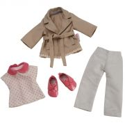 Trench Coat & Denim & Derbies for Les Chéries doll
