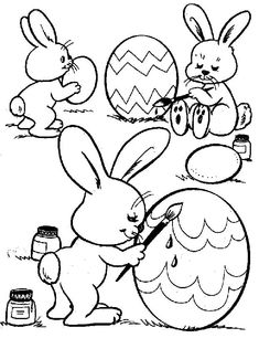 bunnies painting eggs coloring pages for kids free coloring sheets and coloring book pictures of easter eggs bunnies easter baskets and more