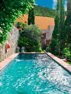 Swimming Pool Ideas : Piscina y jardín Small Swimming Pools, Small Pools, Swimming Pool Designs, Pool Spa, Above Ground Pool, In Ground Pools, Moderne Pools, Dream Pools, Beautiful Pools