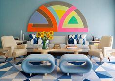 English colour interiors retro