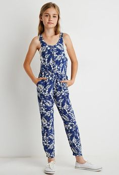 Tropical Print Jumpsuit (Kids) | Forever 21 girls - 2000076921