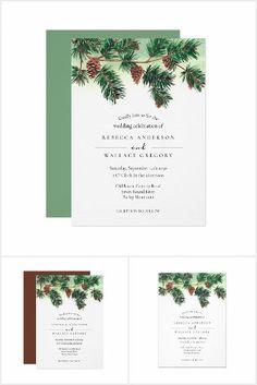 Christmas Wedding Invitations, Watercolor Wedding Invitations, Wedding Suits, Party Hats, Wedding Ceremony, Rustic Wedding, Birthday Parties, Place Card Holders, Seasons