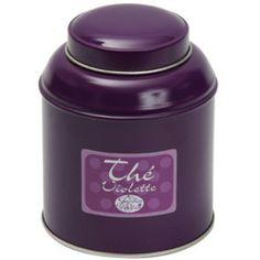 Boîte ronde de thé noir à la Violette130g