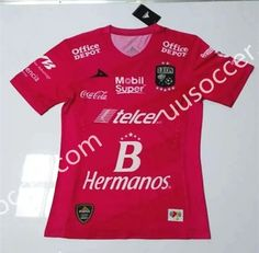 2016/17 Club León 2nd Away Red Thailand Soccer Jersey AAA