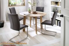 BORE Стол обеденный круглый размер 120х120 материал з натурального дерева