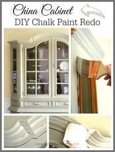 China Cabinet Chalk Paint Redo - Sondra Lyn at Home