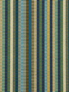 Navy Blue Stripe Upholstery Fabric - Dark Blue Sage Green Gold Furniture Fabric - Modern Striped Pillow Covers - Gold Green Curtain Panels