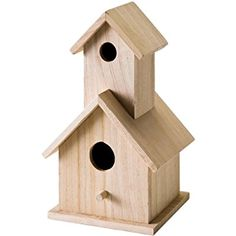 Amazon.com: Plaid Wood Surface Crafting Birdhouse, 12741 Story: Arts, Crafts & Sewing